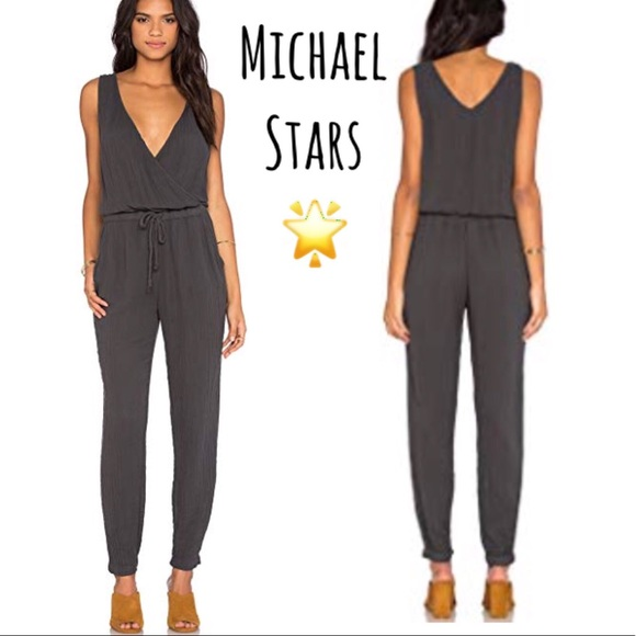 126501adc709 Michael Stars Double Gauze Twisted Strap Jumpsuit